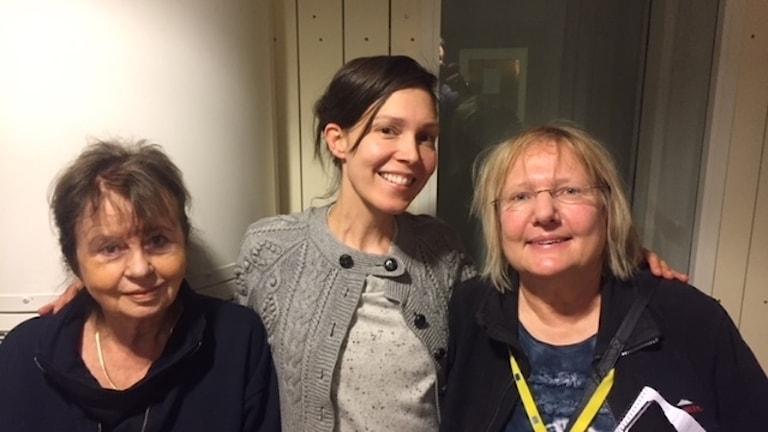 Titti Nylander, Caroline Salzinger och Susanne Palme om italienskt val och somartid. Foto: Richard Myrenberg