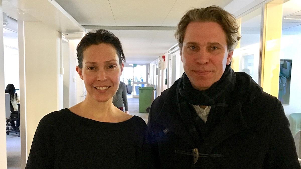 Caroline Salzinger och Göran von Sydow.