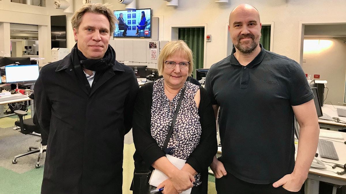 Göran von Sydow, Susanne Palme och Claes Aronsson.