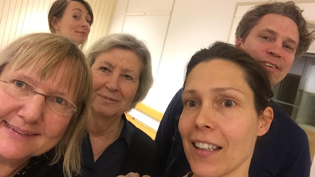 Susanne Palme, Lisa Bergström, Agneta Ramberg,Caroline Salziger och Göran von Sydow