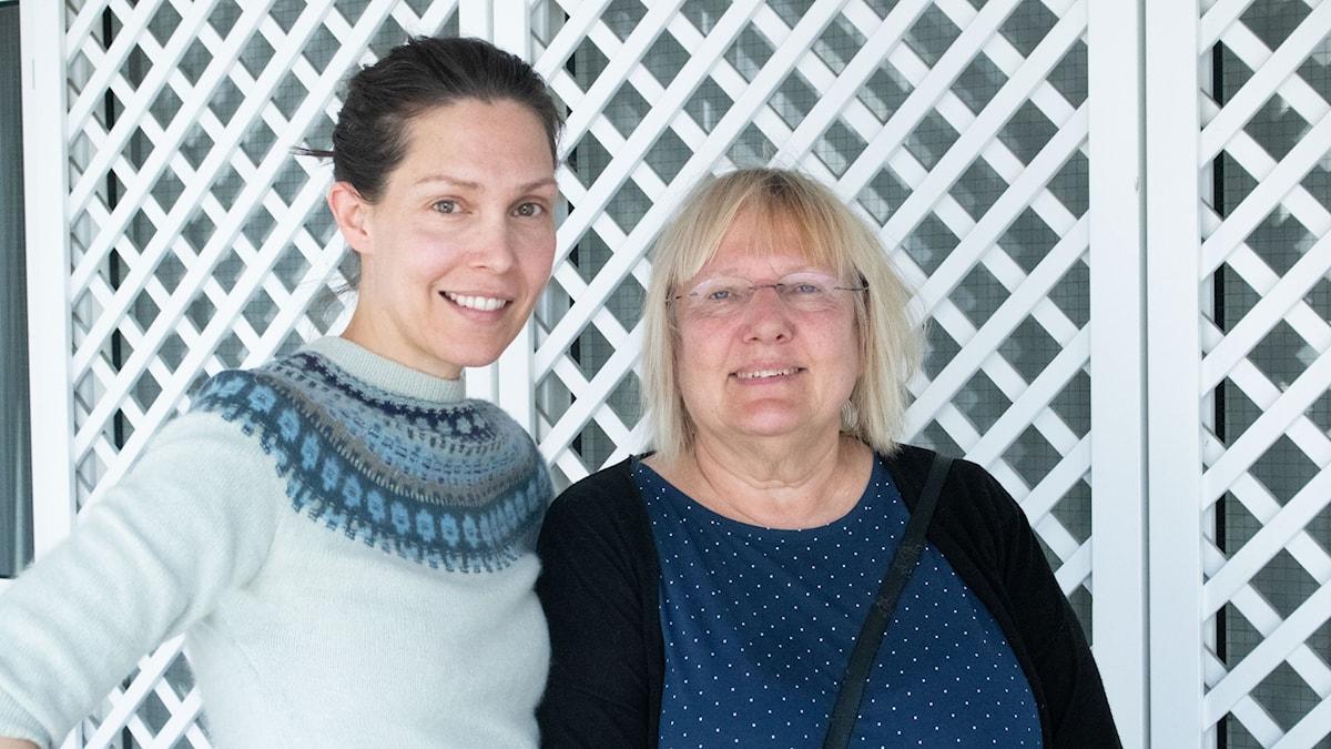 Caroline Salzinger och Susanne Palme.