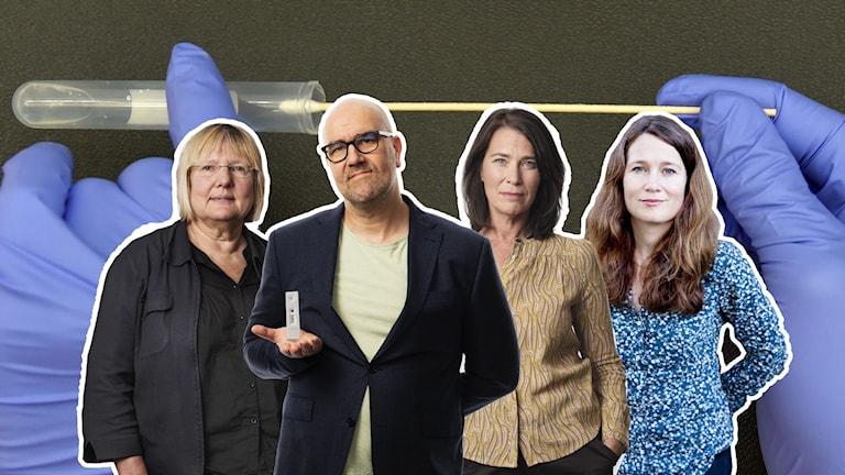 Susanne Palme, Claes Aronsson, Margareta Svensson och Ulrika Björkstén.
