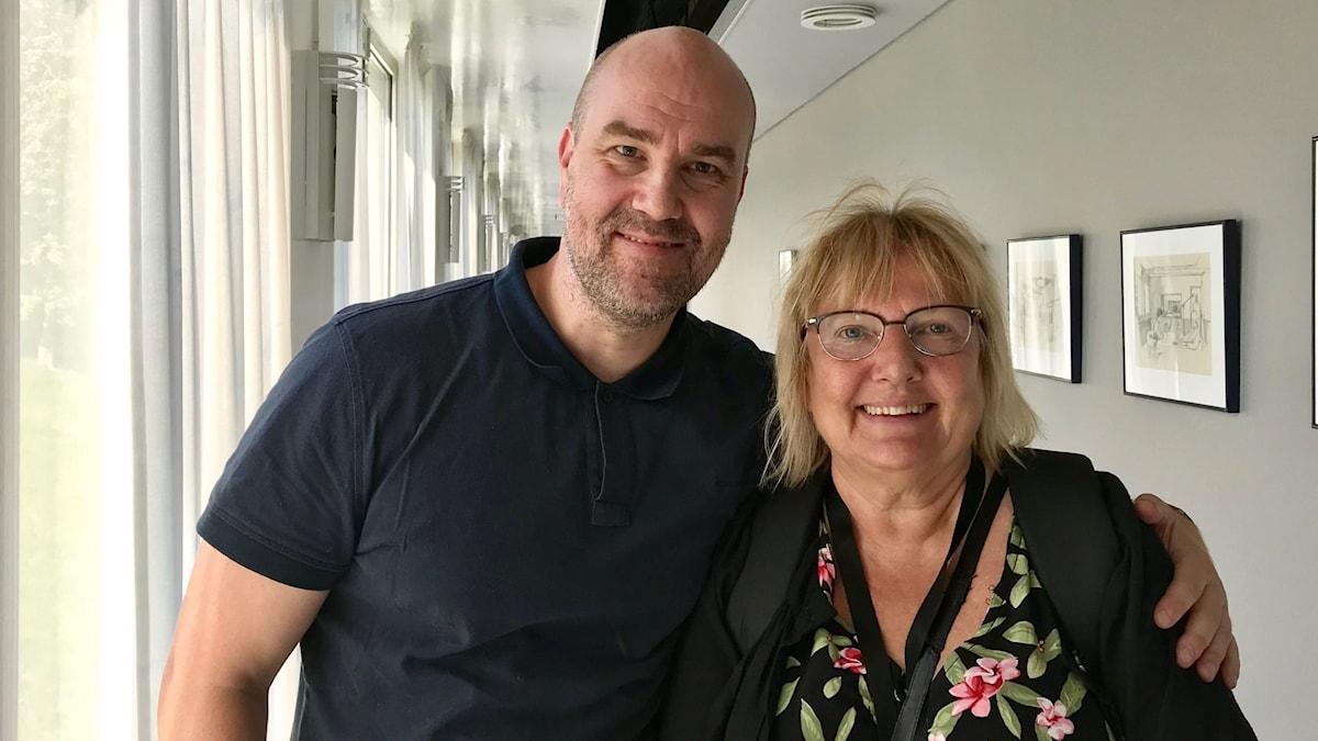 Claes Aronsson och Susanne Palme.
