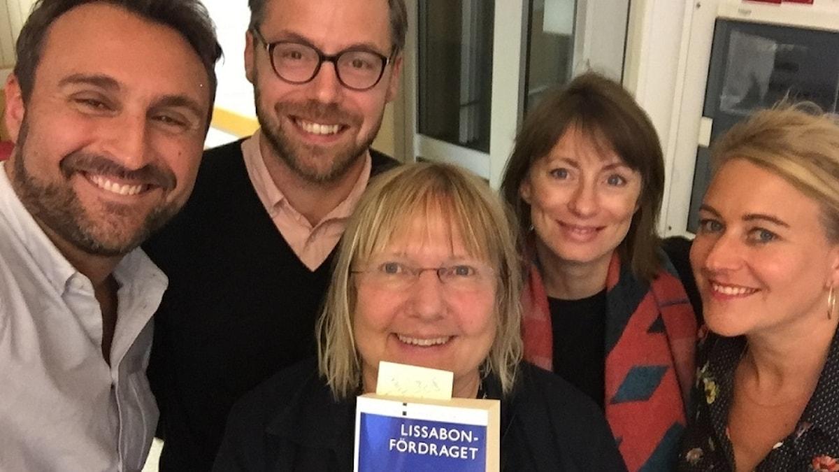 Johar Bendjelloul, Niklas Bremberg, Susanne Palme, Lissabonfördraget, Lisa Bergström och Beatrice Janzon