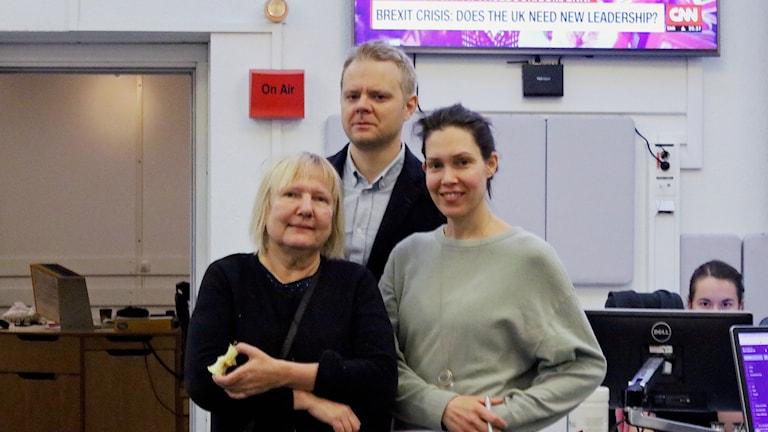 Susanne Palme, Björn Fägersten och Caroline Salzinger.