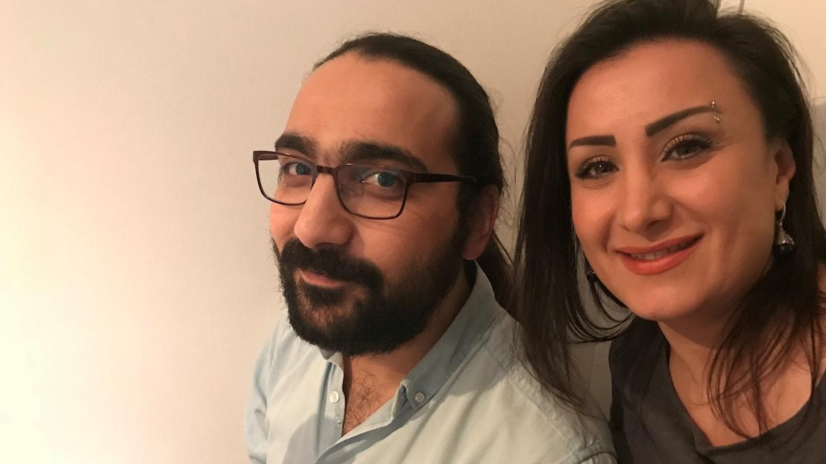 Hozan Cheikhi och Rowa Alkhatib Foto Helene Almqvist