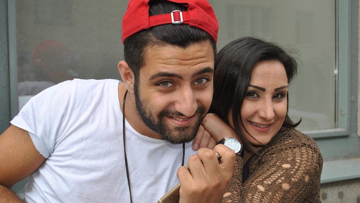 Mahmoud Bitar och Rowa Alkhatib.