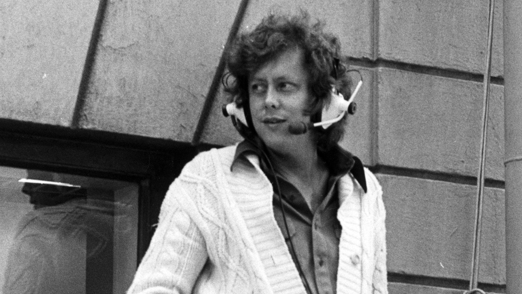 En äldre bild på Ulf Elfving i Svart-vitt.