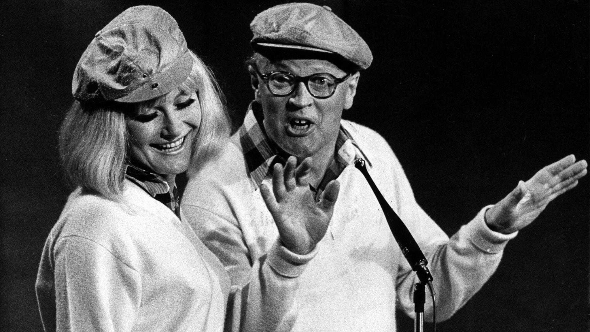 Monica Zetterlund och Povel Ramel i Hylands hörna