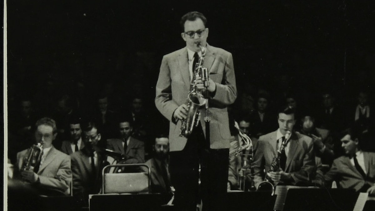 The Stan Kenton Orchestra in concert, 1956.