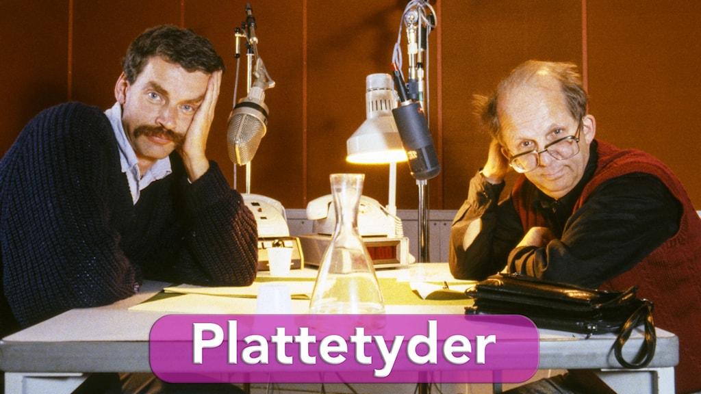 Kjell Swanberg och Bengt Wittström i en radiostudio