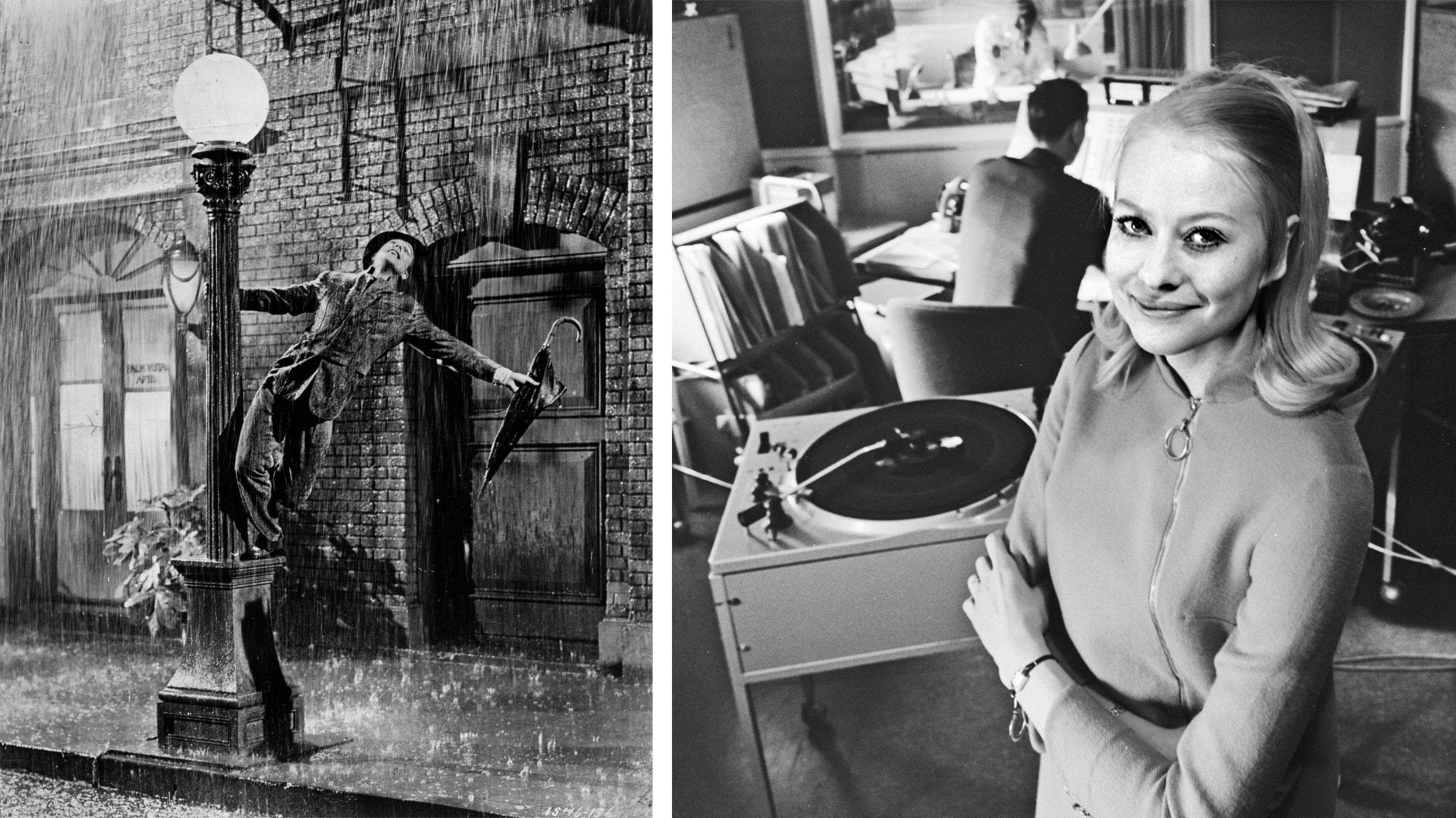 Gene Kelly i den berömda dansscenen Singin´in the rain och Kicki Engerstedt