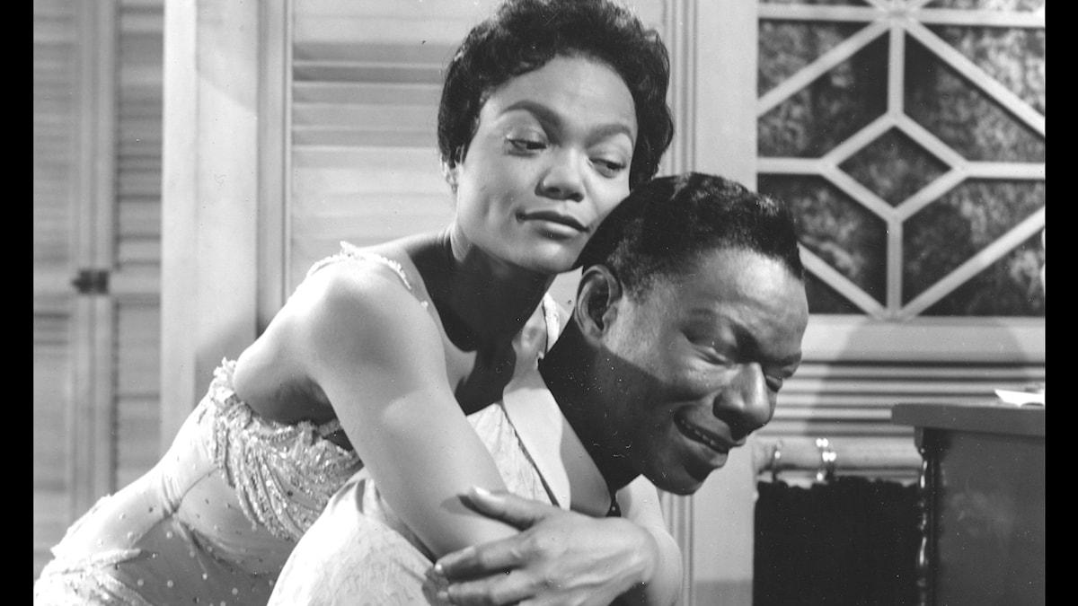 "Eartha Kitt och Nat King Cole i filmen ""St. Louis Blues."" 1958"