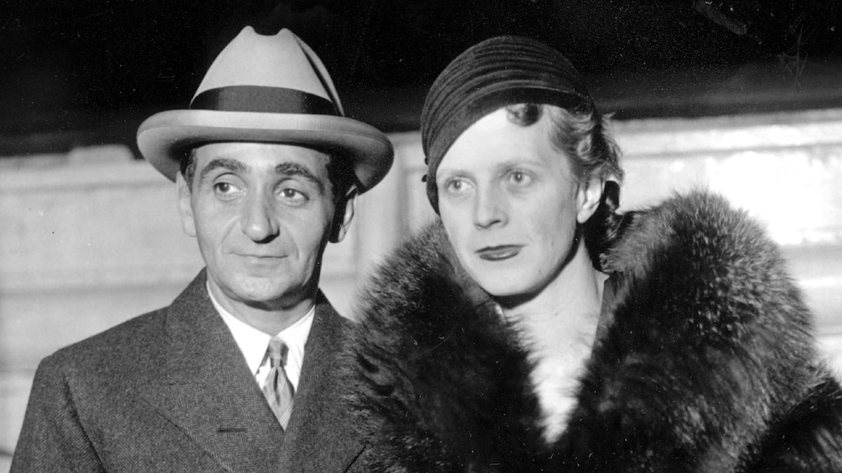 Composer-songwriter Irving Berlin and his wife, Ellin, pose aboard the Liner S.S. Europa on their return to New York City on Oct. 26, 1932.  (AP Photo)