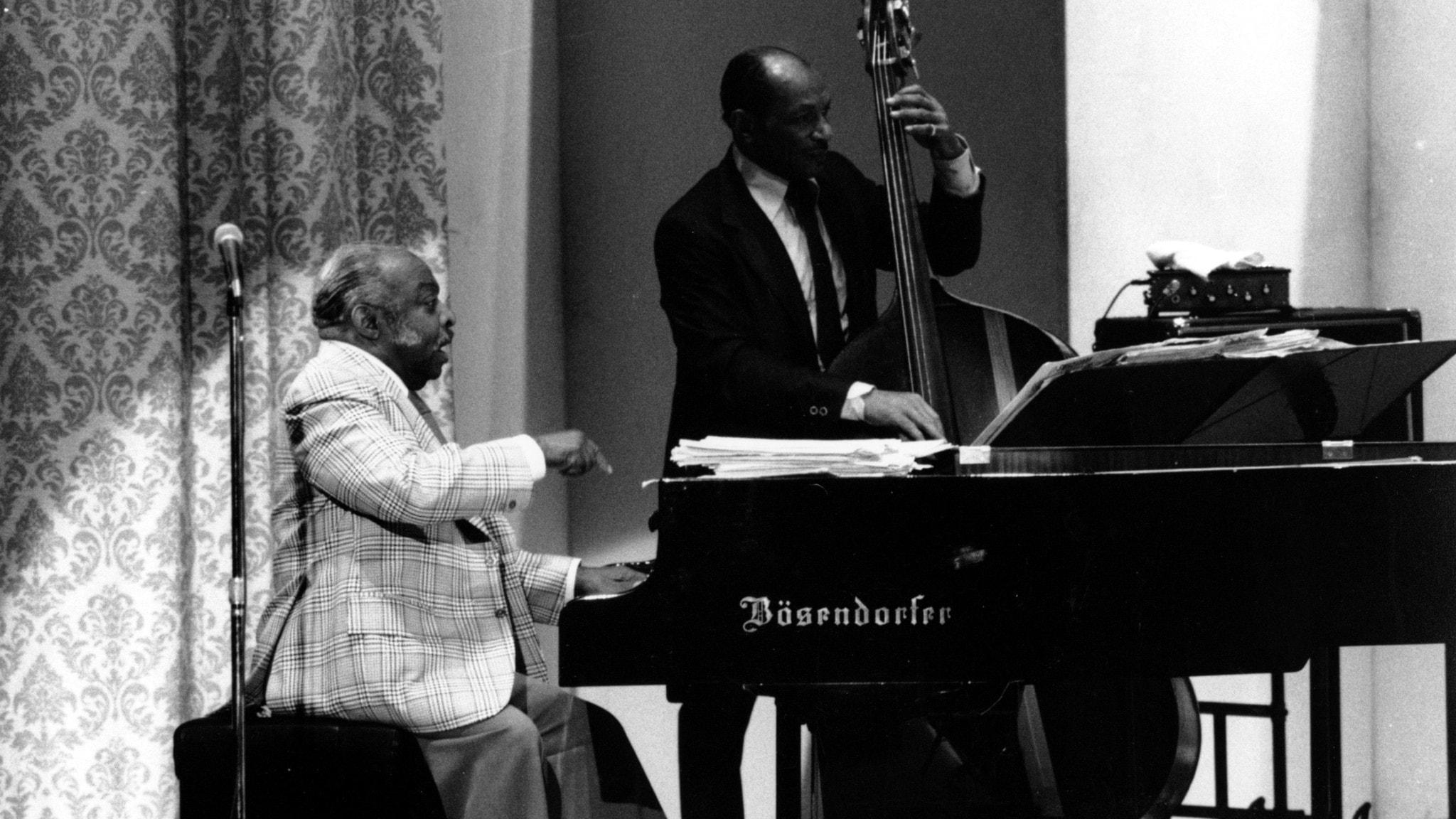 Smoke Rings hyllar – Basie och Ellington, i ett av Leifs sista program
