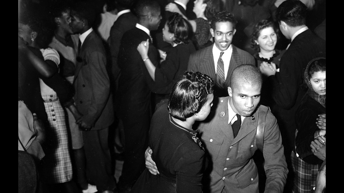 U.S. Army soldier dances at the Savoy Ballroom in Harlem, New York City on Feb. 7, 1942.