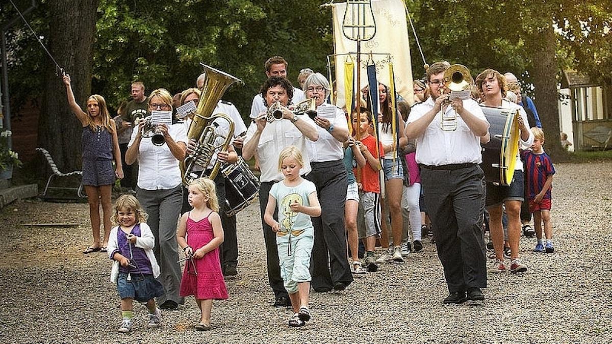 Medevi Brunnsorkester på Medevi brunn.