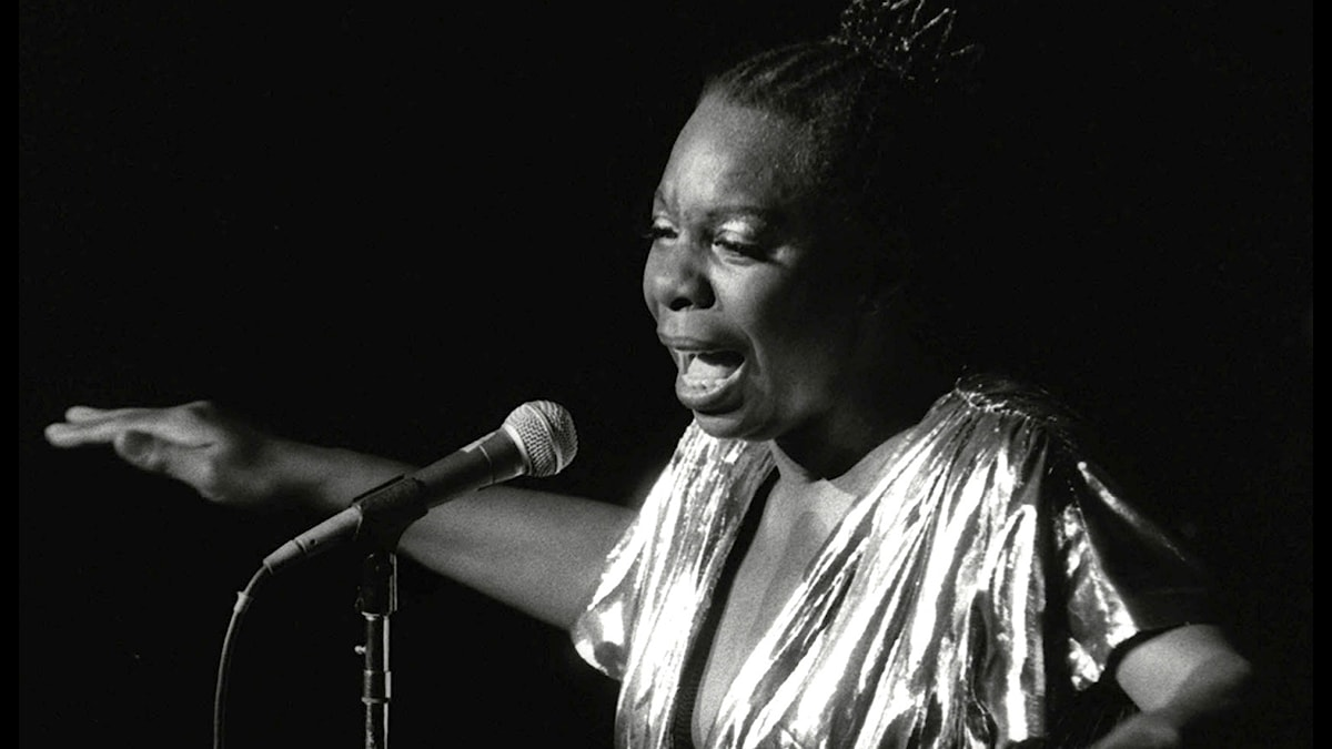Nina Simone performs at Avery Fisher Hall in New York