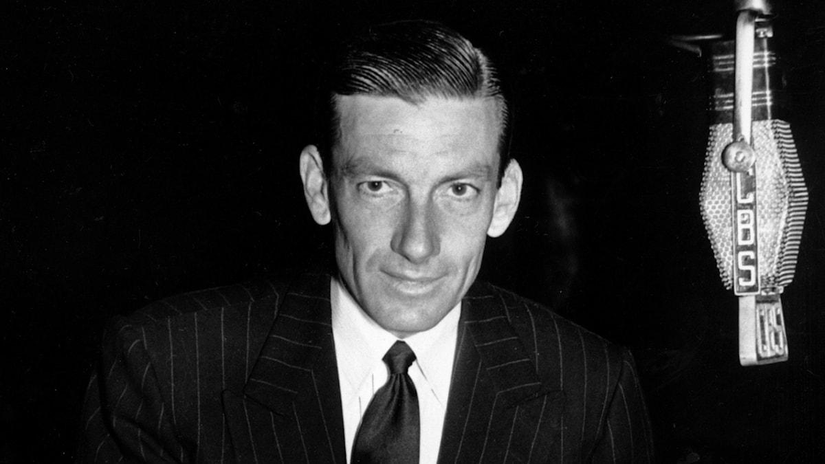 Jazzpianist och kompositör Hoagy Carmichael i CBS studio 1947