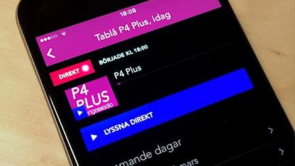 P4 Plus i mobilen - finns i vår app Sveriges Radio Play.