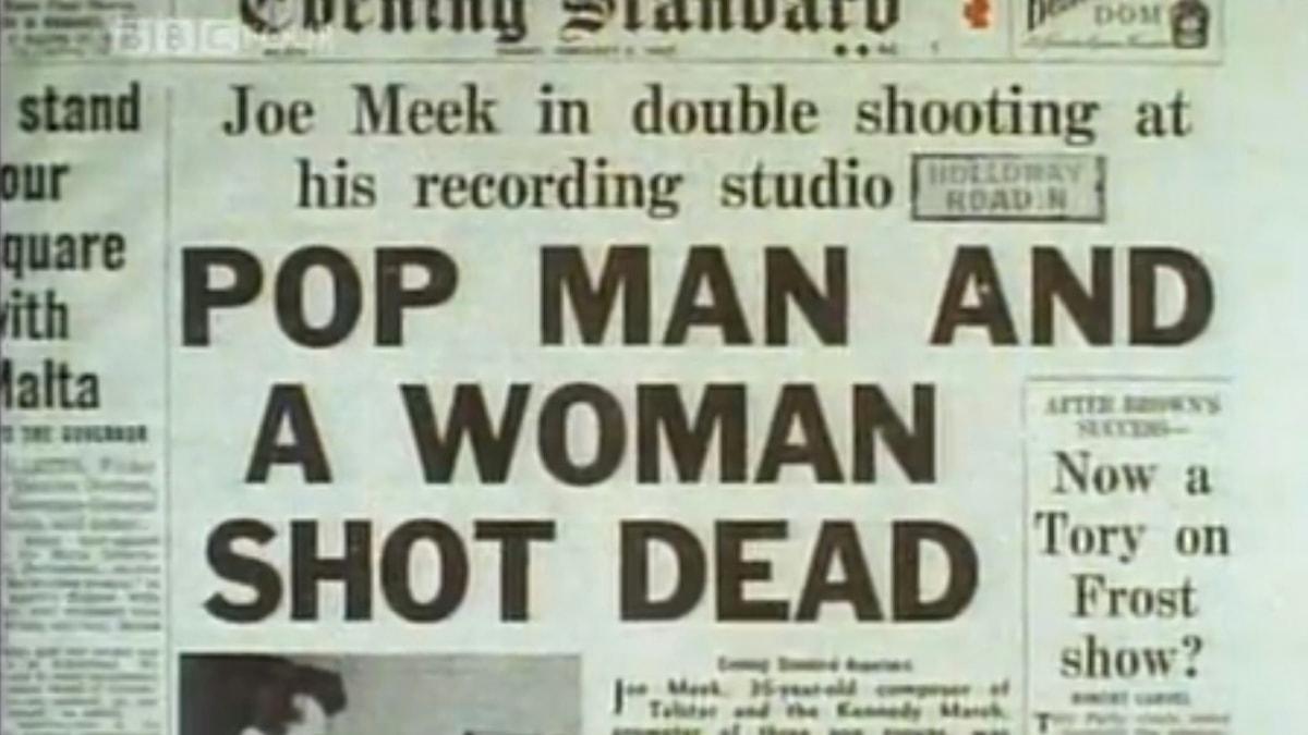 Artikel om Joe Meek tragiska död