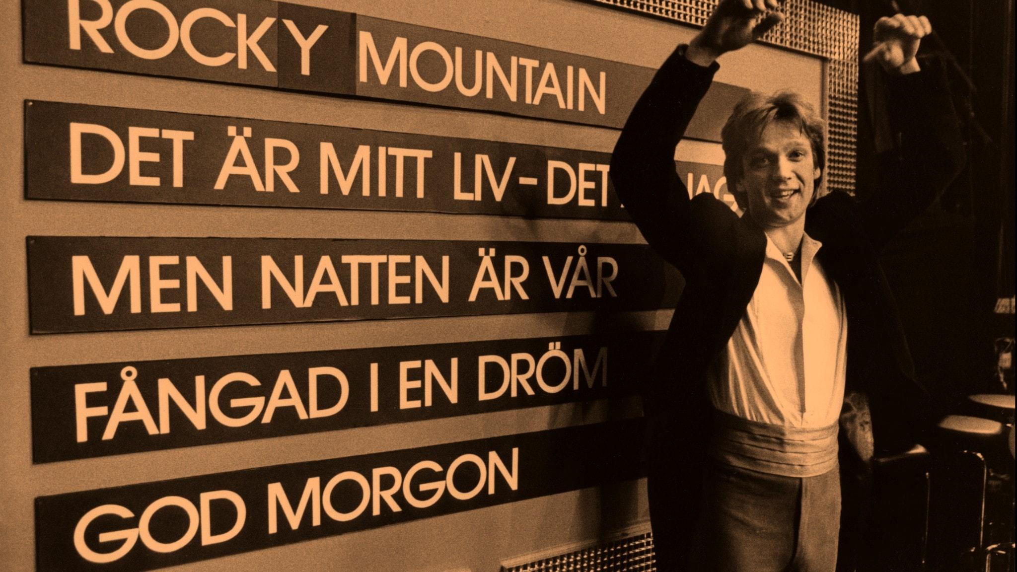 4 av 5 Melodifestivallåtar låg på Svensktoppen 3 maj 1981!