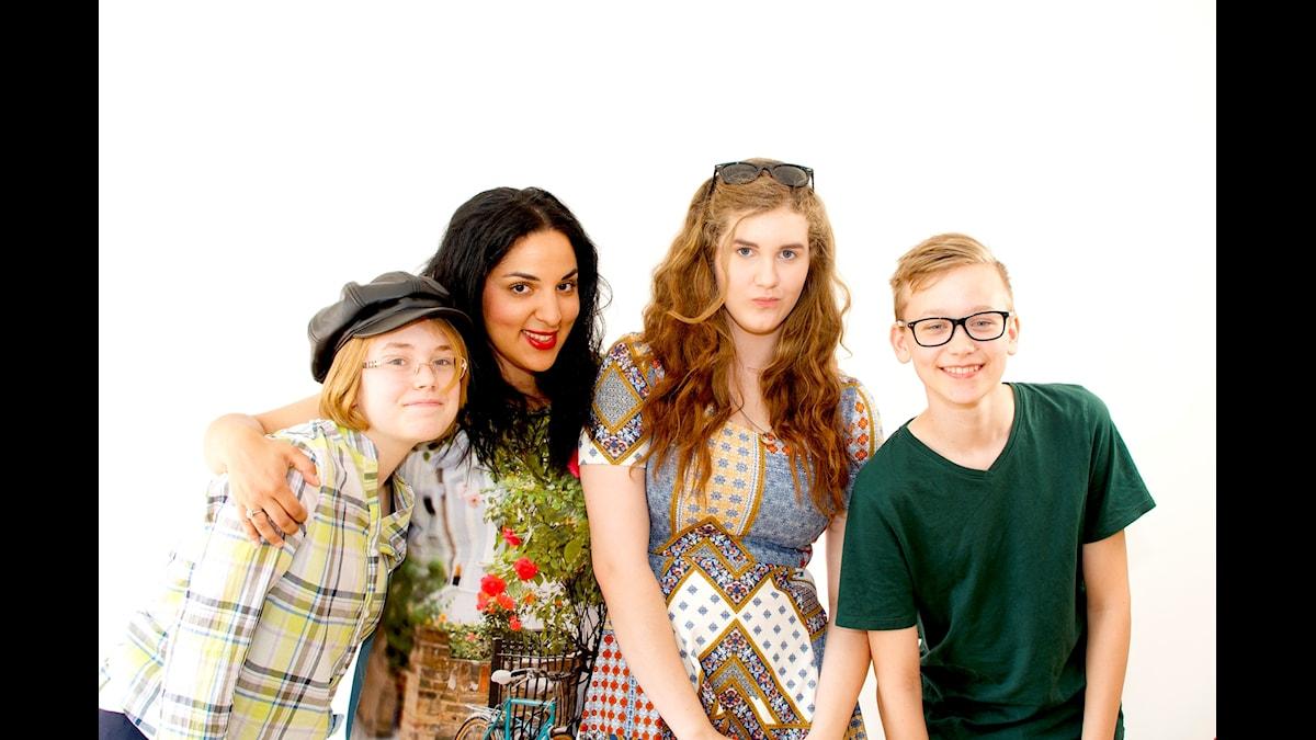 Sommarbokens bokpanel: Regina von Matern,Tara Moshizi, programledare, Kim Kindvall & Alfred Nilsson