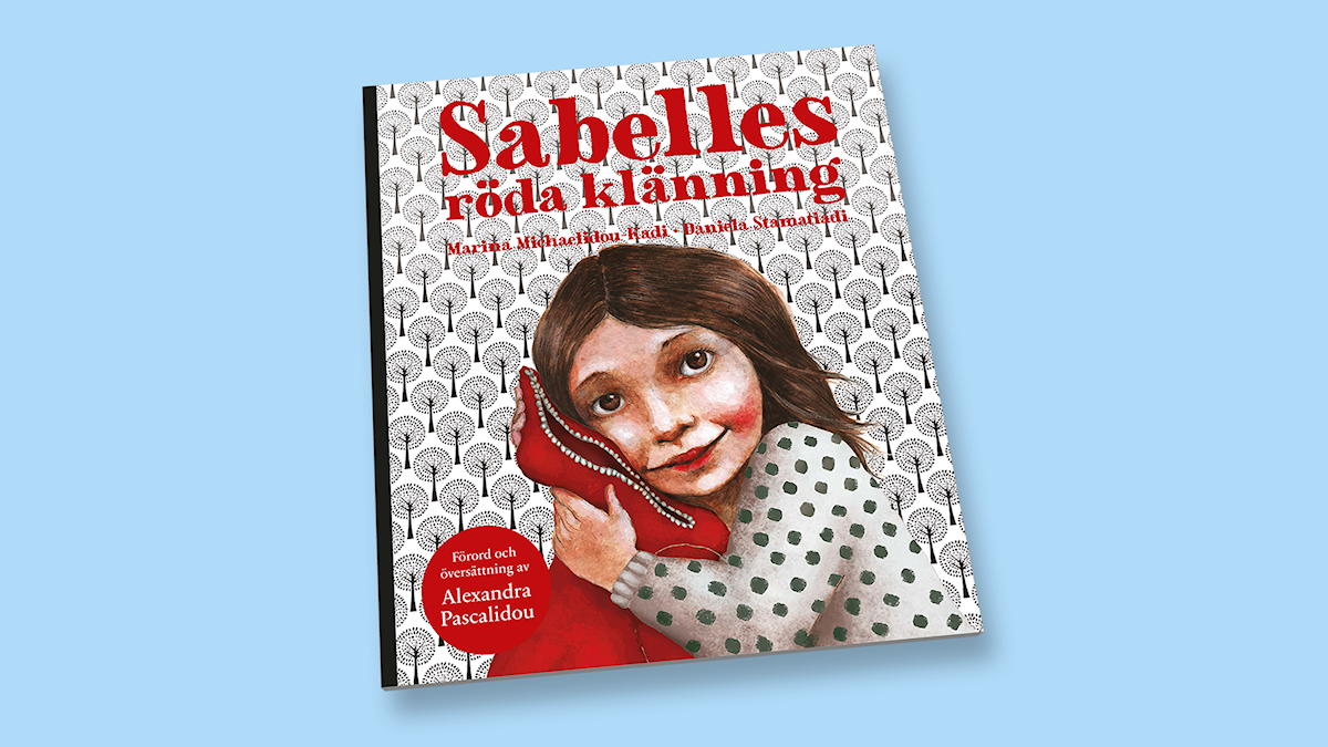 Sabelles röda klänning av Marina Michaelidou och Daniela Stamatiadi.