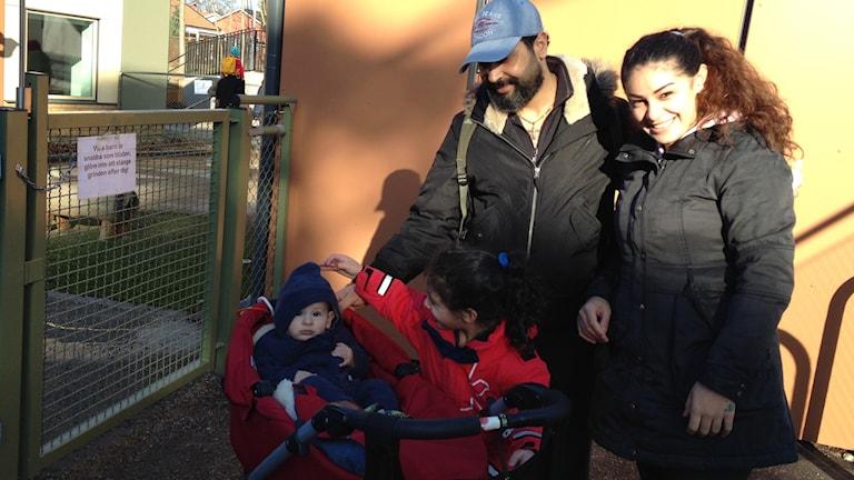 Koulit Haddad med familj