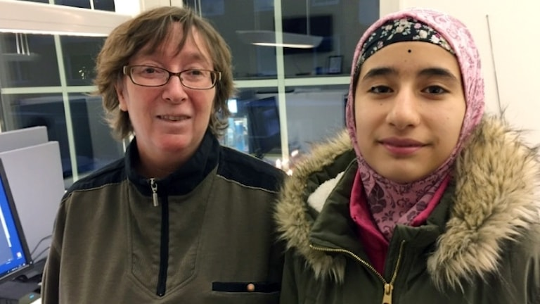 Lena Tegström och Asma Mousavi