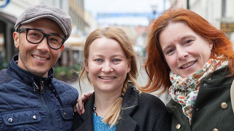 reportrar Shakeb Isaar, Anna Landelius och Madeleine Fritsch Lärka