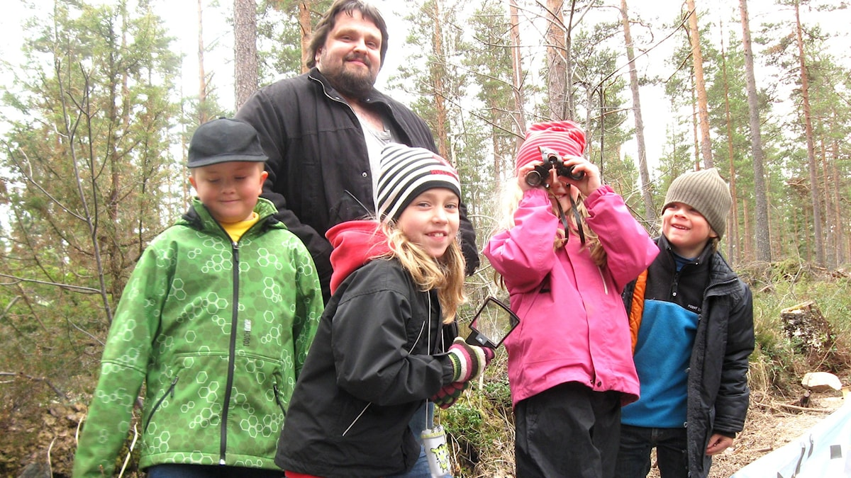 Naturbyrån 5a: Felix, Mattias, Ella, Alva och Sebastian.