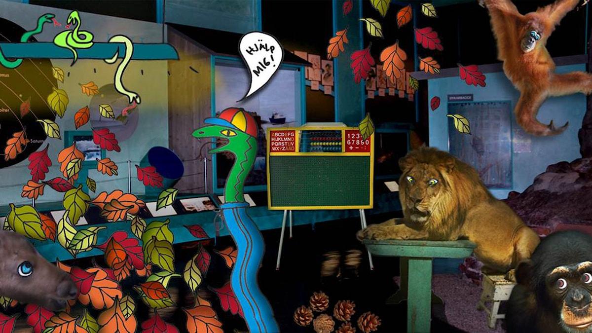 Snokarna snodde oss del 3. Illustration: Cecilia Smedfors-Bang.