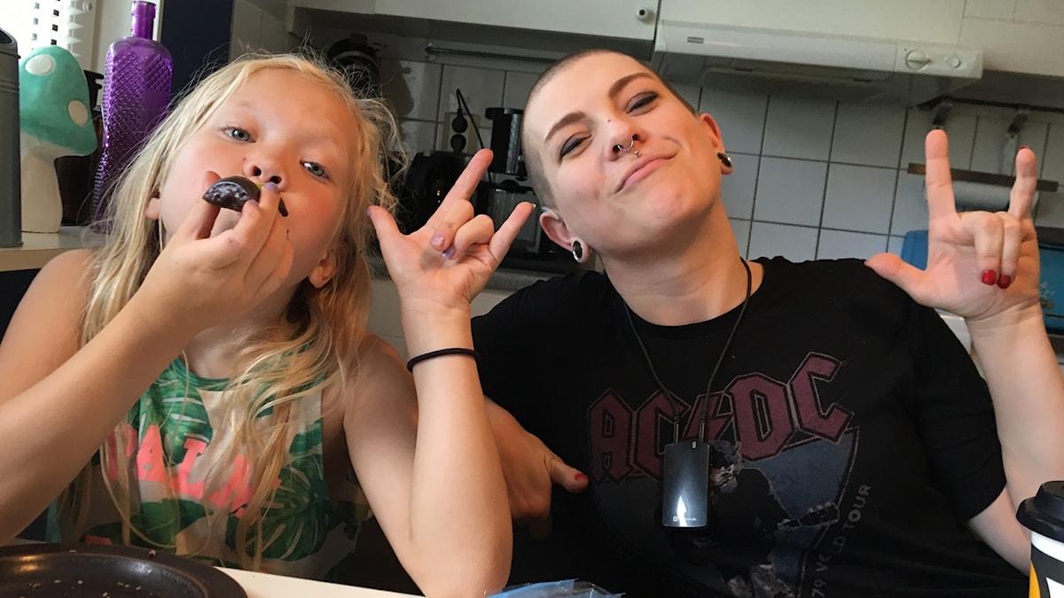 I love you! Frida Ingham med dottern Ottilia