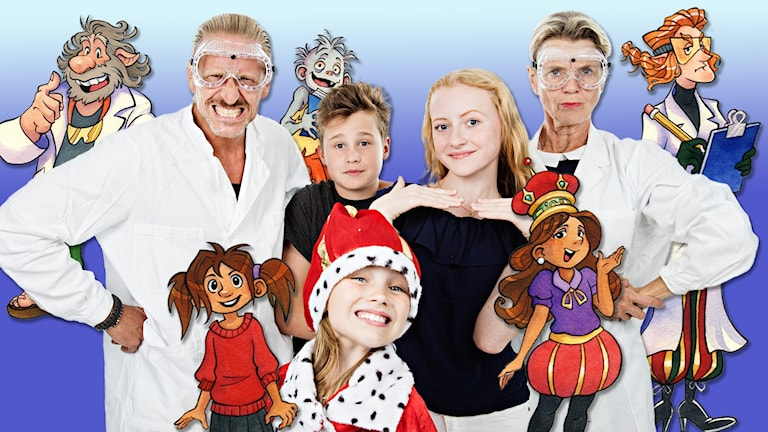 Medverkande gruppbild julkalendern 2016