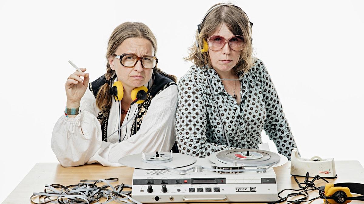 Redaktionen för Utkantssverige: Gertrud Larsson och Åsa Asptjärn. Foto: Martina Holmberg/Sveriges Radio