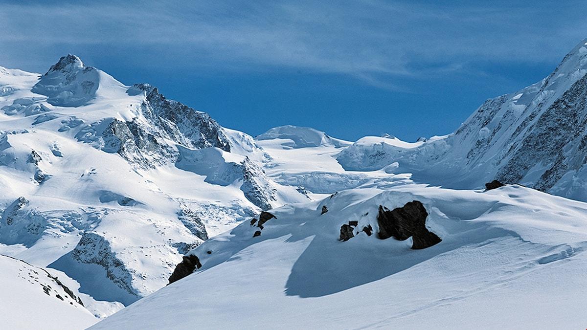 Snöigt berg