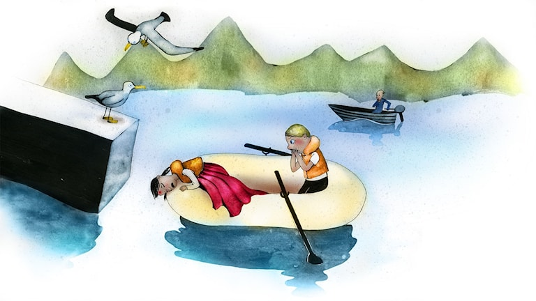 Våffelhjärtat del 10: Sjörövarblod i ådrorna. Illustration: Lotta Geffenblad.
