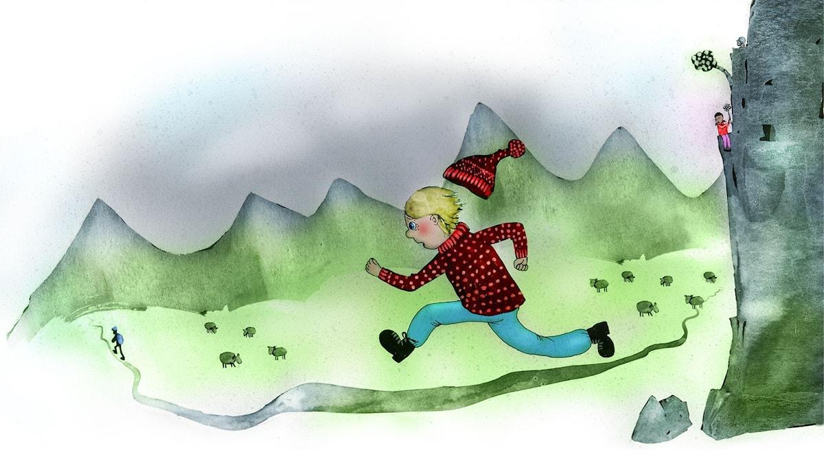 Våffelhjärtat del 12. Illustration: Lotta Geffenblad.