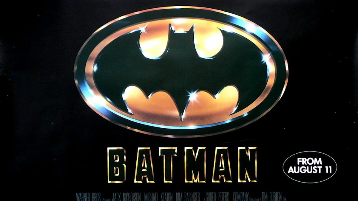 Affisch från Tim Burtons Batman