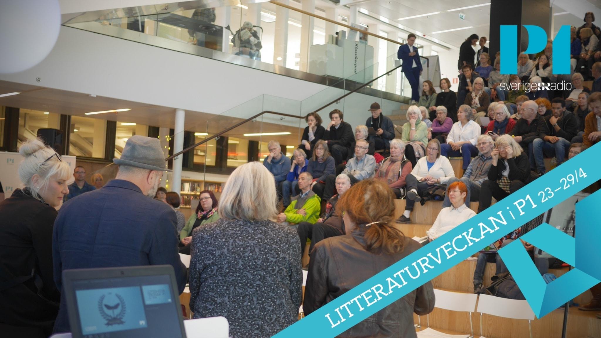 De nominerade romanprisförfattarna på Stadsbiblioteket i Göteborg.