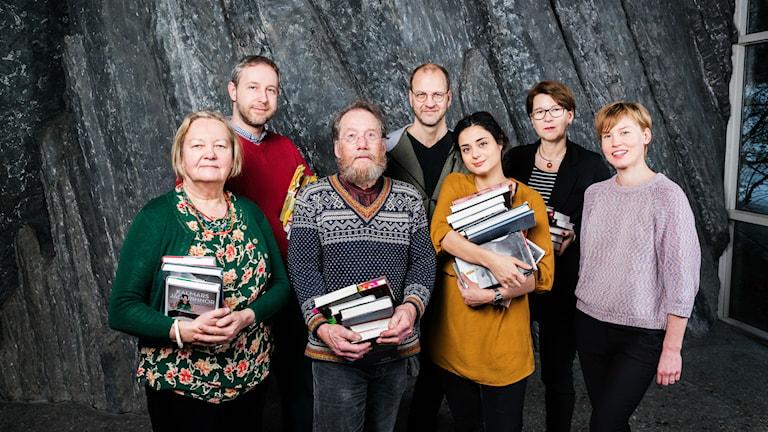 Lyssnarjuryn Sveriges Radios Romanpris 2015. Foto: Alexander Donka/Sveriges Radio