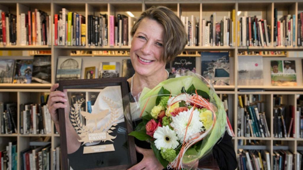 författaren Lotta Lundberg vinner Sveriges Radios Romanpris 2015. Foto: Mikael Grönberg/Sveriges Radio