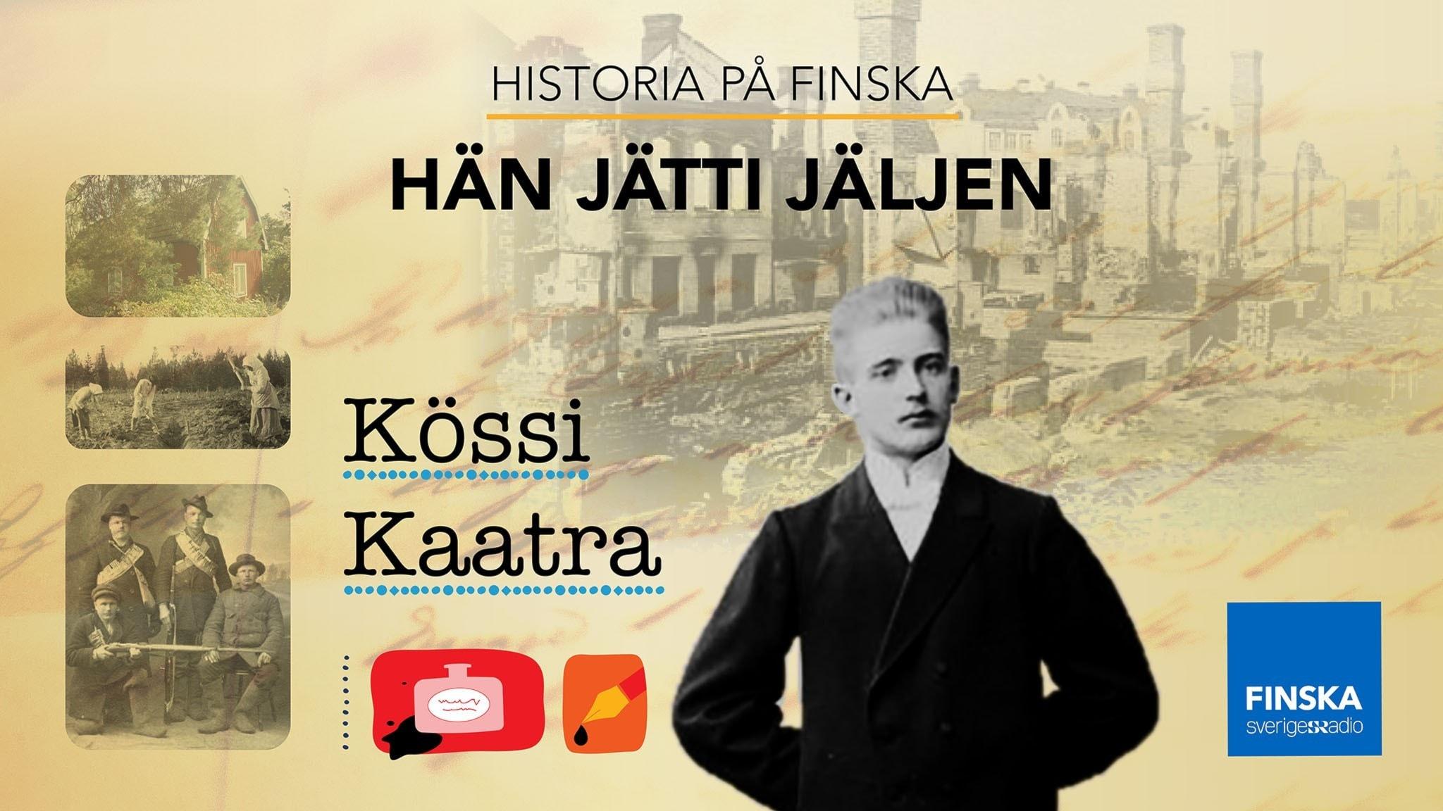 Kössi Kaatra, vasemmistolainen kirjailija, joka pakeni Ruotsiin Suomen sisällissotaa.