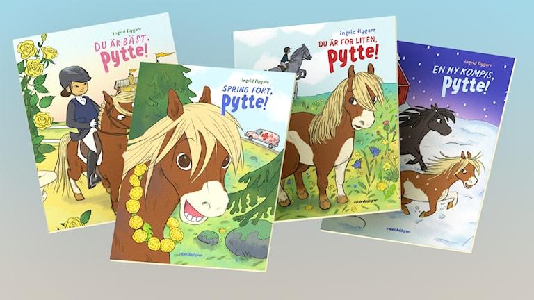 Pytteböckerna är skrivna och ritade av Ingrid Flygare.