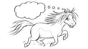 Vad tänker Pytte på? Illustration: Ingrid Flygare.