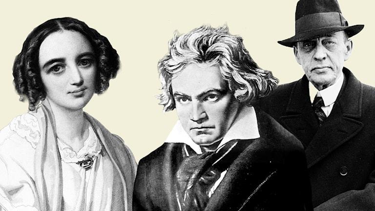 Vilka var våra mest berömda kompositörer, varför låter musiken som den gör och vad den har för betydelse idag? Sanningar och skvaller om människorna bakom mästerverken.