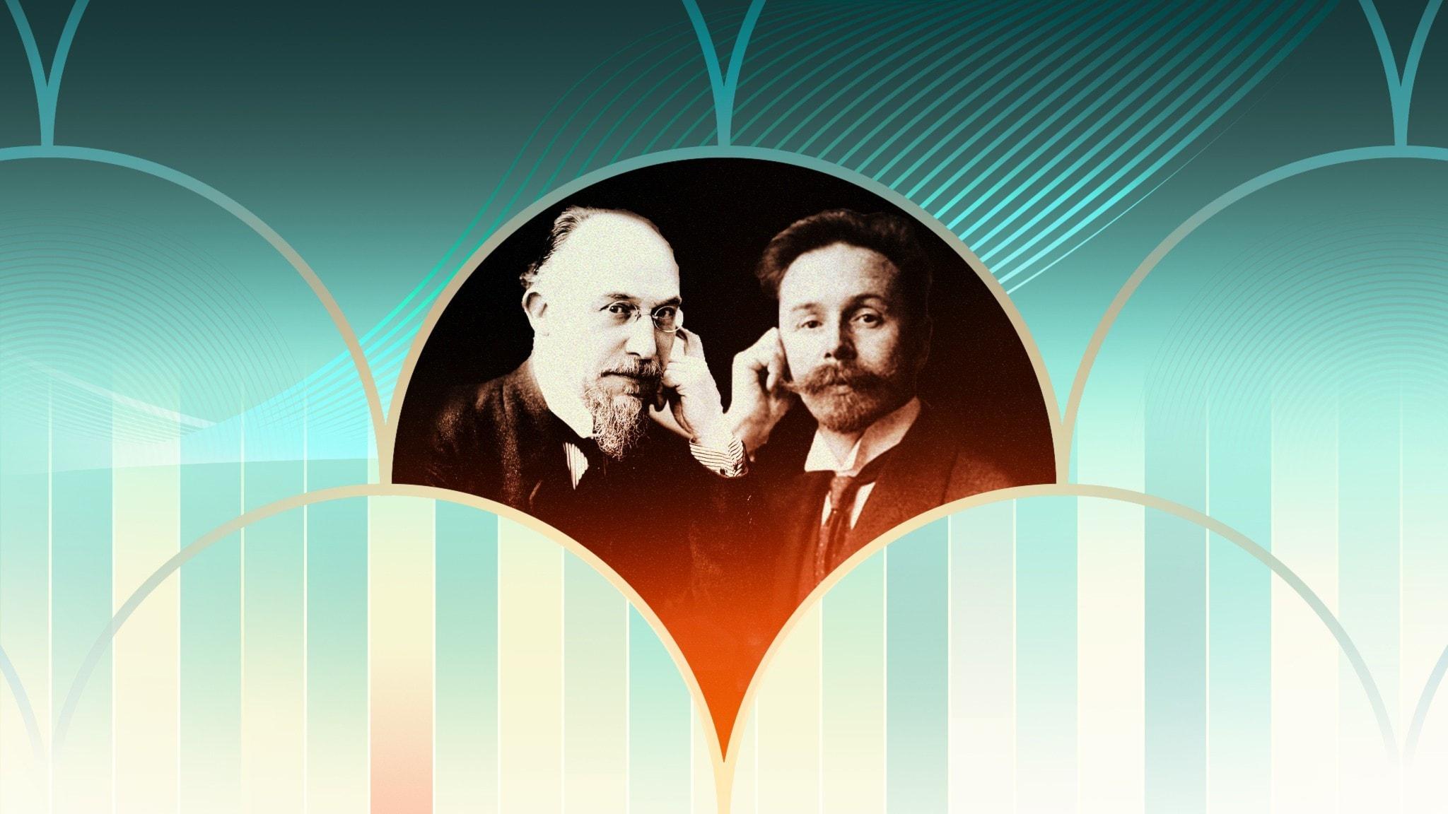 Bild: Tonsättarna Erik Satie och Alexander Skrjabin.