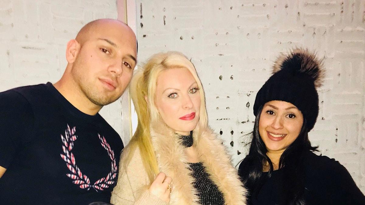 Gloria, Emelie och Mark