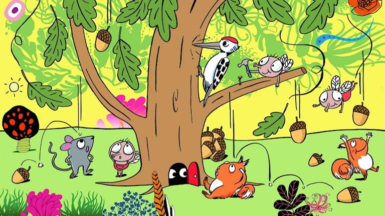 Flippertons flygturer: Vem bor i skogen?